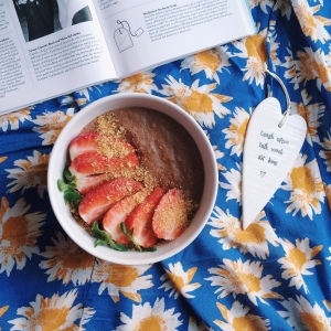 Sweet potato brownie porridge