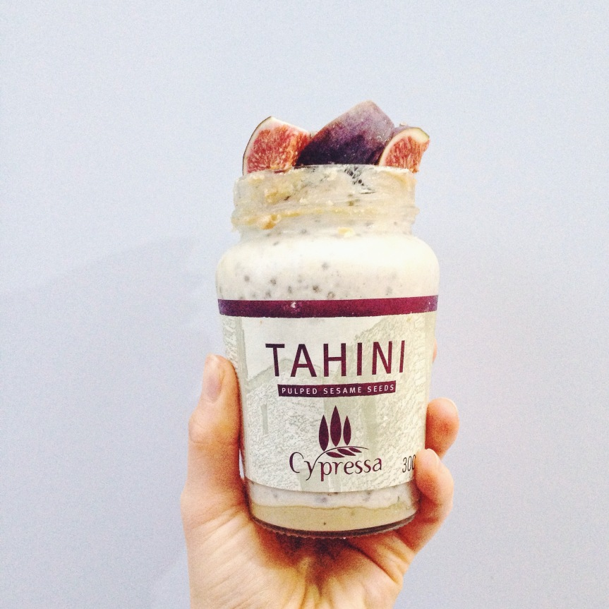 Tahini and nut butters work well with porridge and overnight oats - they add some extra creaminess.